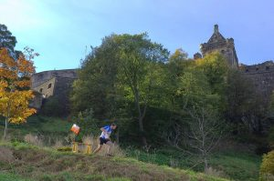 You can combine running in the Scottish countryside with visiting castles and historic monuments