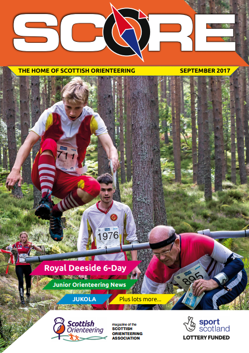 SCORE Scottish Orienteering magazine Cover September 2017 family days out