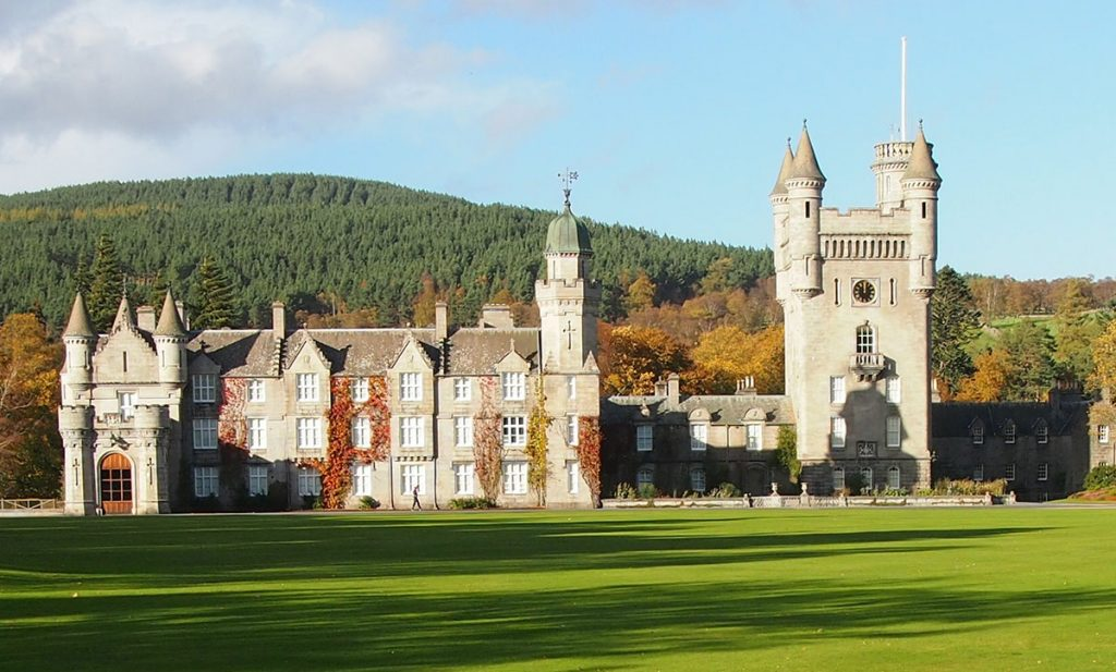 Balmoral Castle view from a Scottish Orienteering event