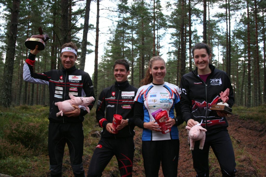 2014 Chasing Sprint at Birsemore on Royal Deeside in Scotland, with elite winners Daniel Hubmann of Switzerland and Hollie Orr of Scotland/GBR