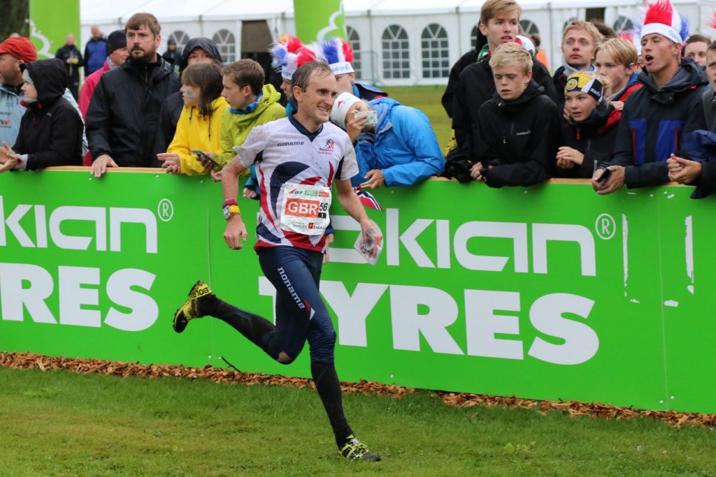 Graham Gristwood finishing the relay